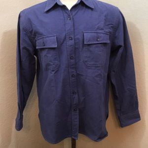 L L Bean flannel blue shirt - medium